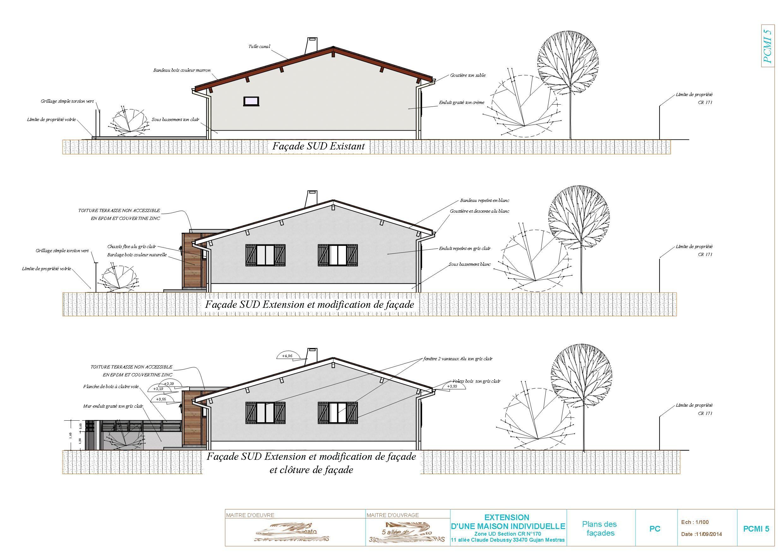 Exemple de plan de permis de construire 40 33 christophe taurel - Plan pour construire maison ...