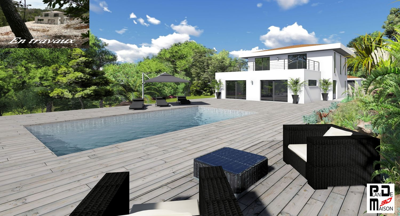villa et piscine de luxe, montage 3D.jpg