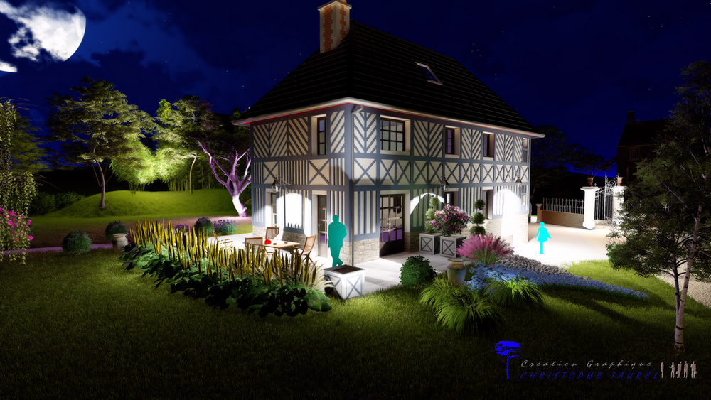 Eclairage LED de jardin