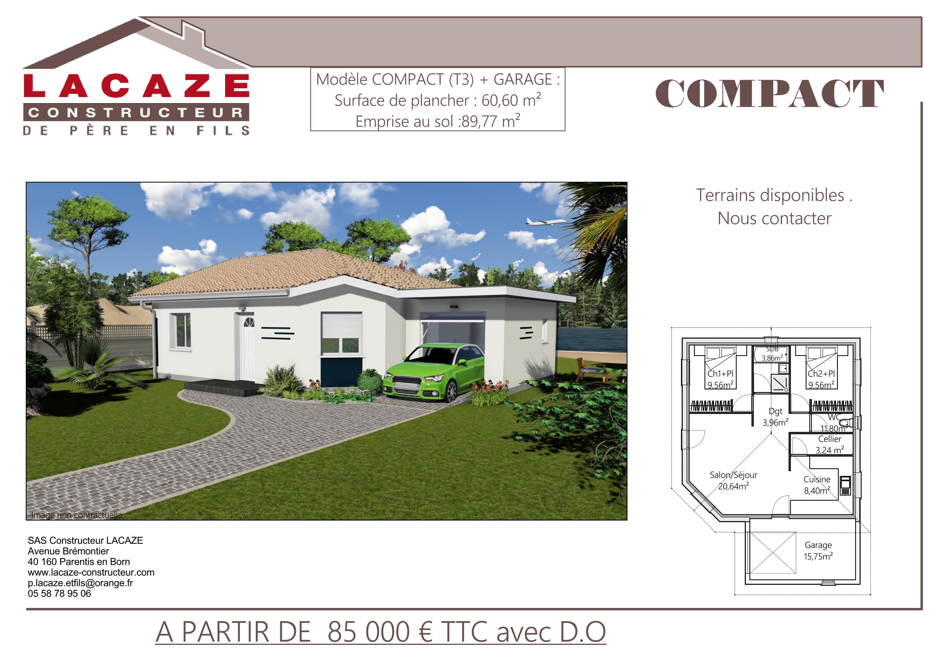 Maison individuelle, plan et dessin.