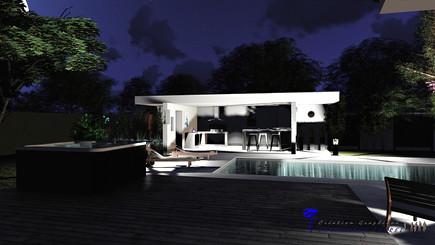 Pool house, éclairage LED.