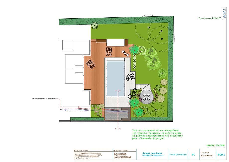 pool house-cuisine d'été sur mesure-plan de maison 3d