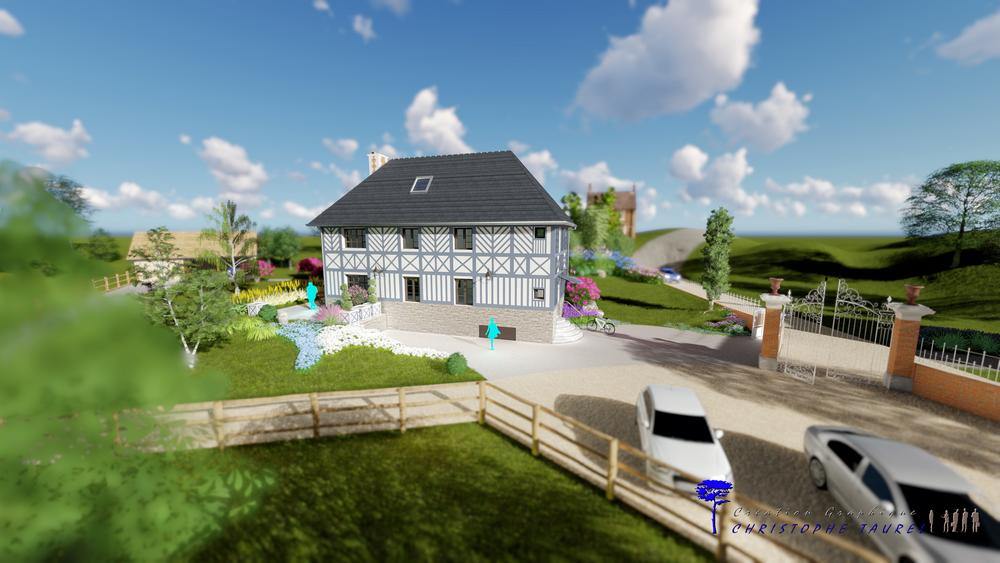plan de maison 3D