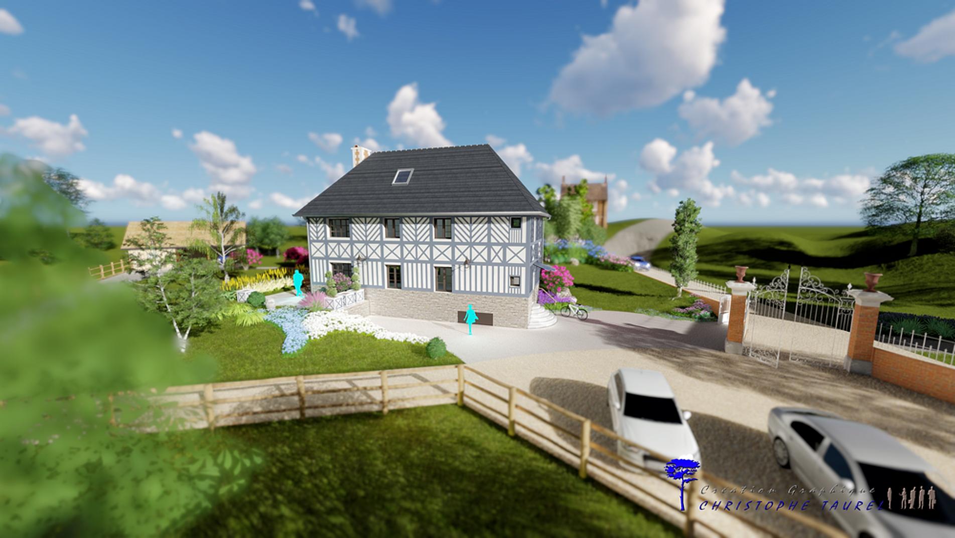 Plan permis de construire france christophe taurel for Projet 3d maison