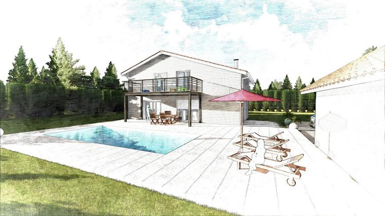 Plan et illustration pour permis de construire