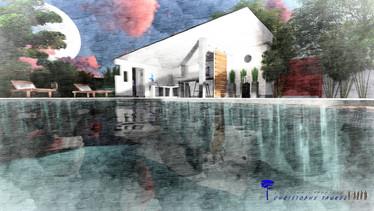 Illustration 3D de jardin