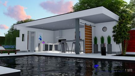 Pool house arcachon, piscine.