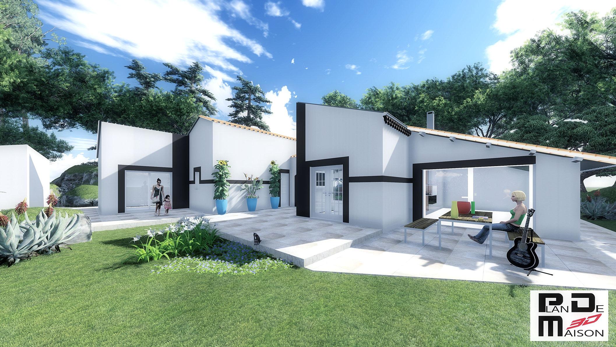 plan maison contemporaine luxe conception de la maison. Black Bedroom Furniture Sets. Home Design Ideas