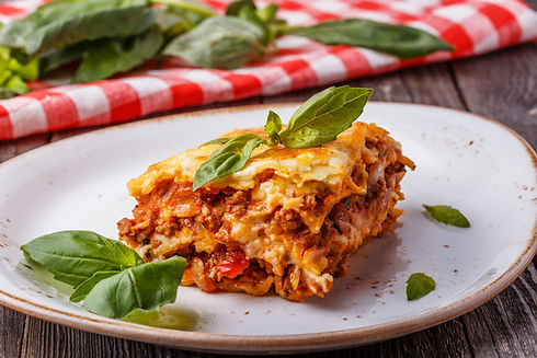 Traditional lasagna made with minced bee