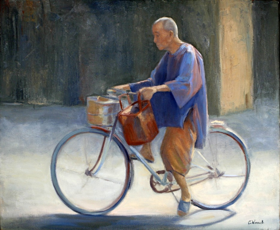 Vietnamese Monk on a Bicycle