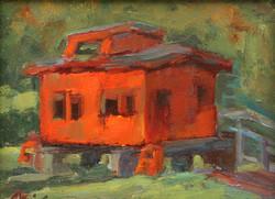 Red Caboose in Stevensville