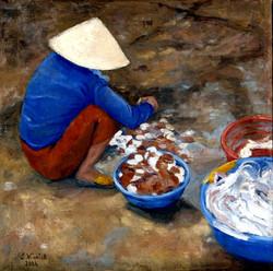 Sorting Shellfish in Hoi An