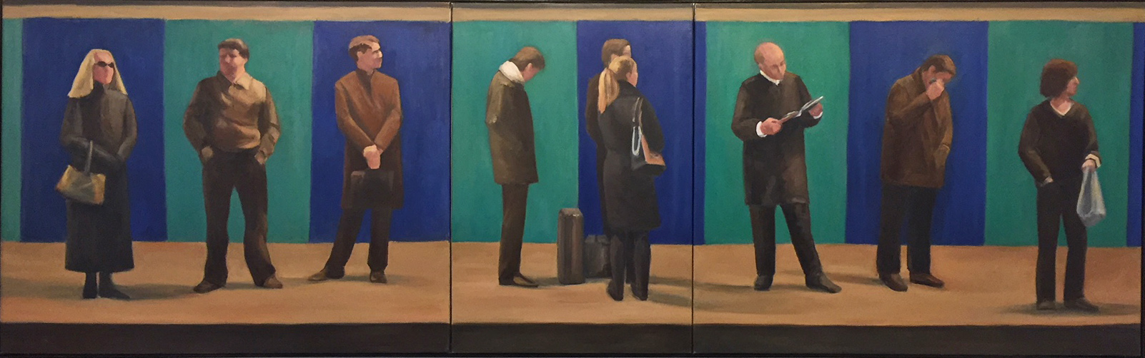 Metro Frieze,92x29in.,oil