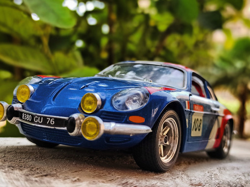 The first car to be crowned WORLD RALLY CHAMPION - Alpine A110
