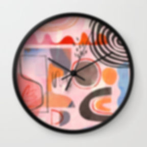 Nice day Wall Clock by Ruth Burrows