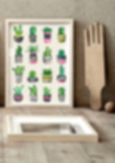 Cacti Love print by Ruth Burrows