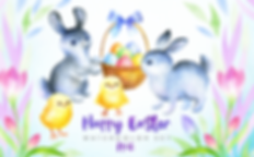 Happy-Easter-Watercolor-clip-arts-by-Olg