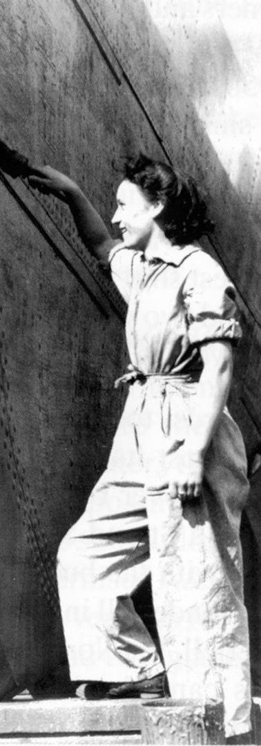 Woman shipyeard worker