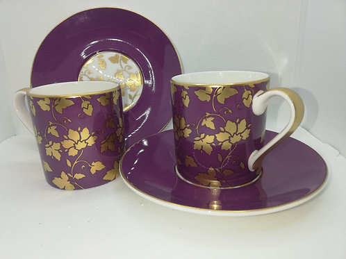 Pink And Gold Coffee Cups