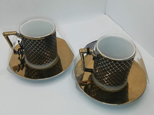 Gold And Black Coffee Cups
