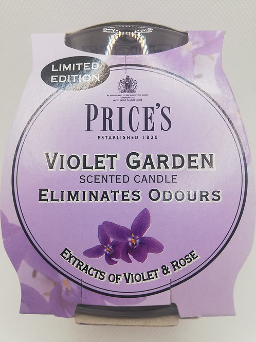 Price's Violet Garden candle