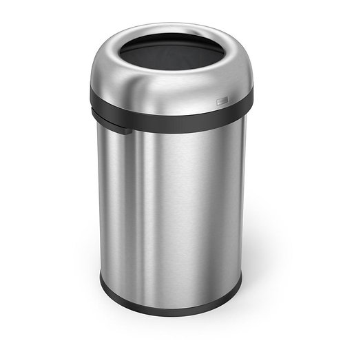 115-Litre Heavy-Gauge Brushed Stainless Steel Bullet Open Bin