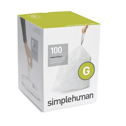 Code G Custom Fit Bin Liners, 5 x pack of 20 (100 liners)