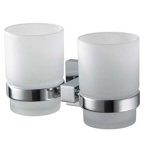 Haceka Mezzo Chrome Double Glass Cup Holder
