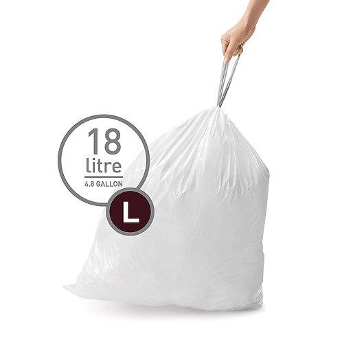 Simplehuman Code L, pack of 20, white plastic