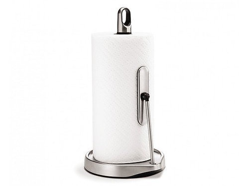 Kitchen Roll Holder Tall Tension Arm, Brushed Steel