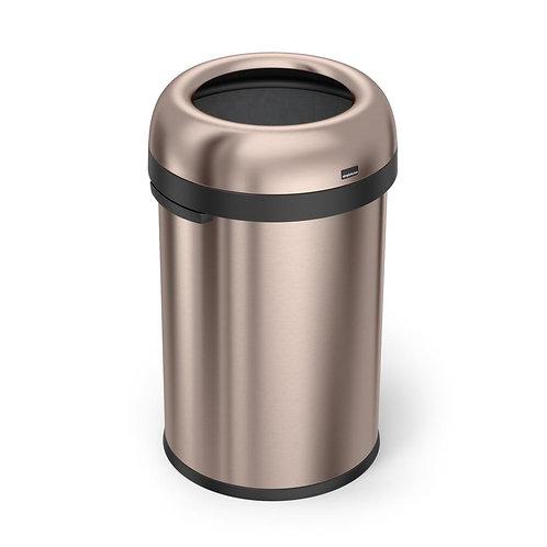 "115-Litre Rose Gold Heavy-Gauge Stainless Steel ""Bullet"" Round Open Top Bin"