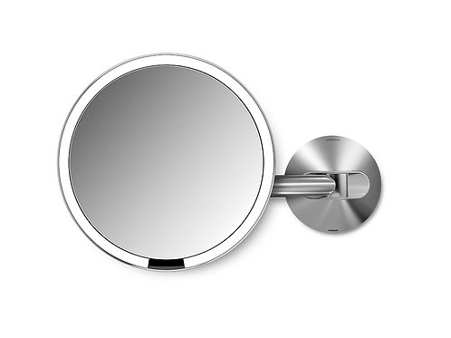 Rechargeable 20cm Wall Mount Sensor Mirror with 5x Magnification
