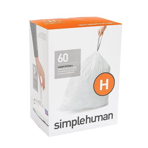 Code H Custom Fit Bin Liners, 3 x pack of 20 (60 liners)