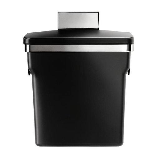 10-Liter Black In-Cabinet Bin