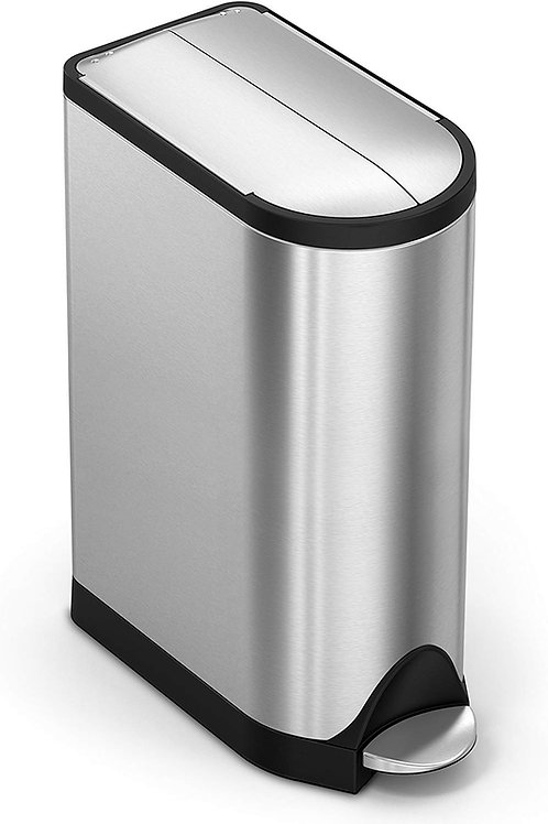 18L Single Compartment in Brushed Stainless Steel Butterfly Pedal Bin