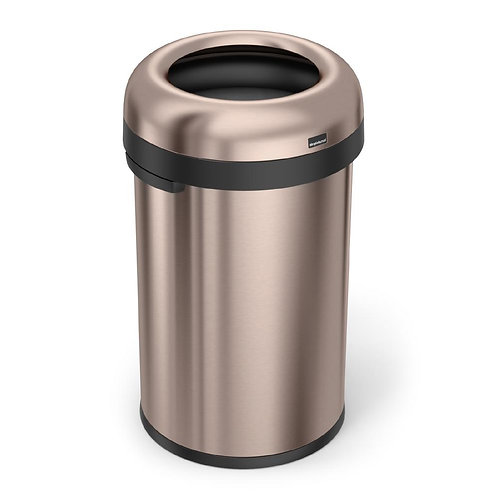 "80-Litre Rose Gold Heavy-Gauge Stainless Steel ""Bullet"" Round Open Top"