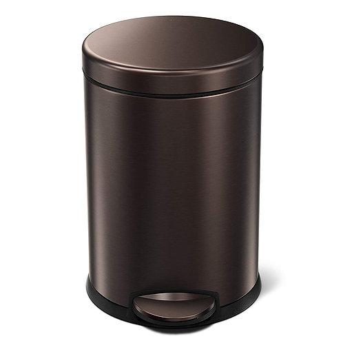 4.5L Compartment Round Pedal Bin Single in Dark Bronze Stainless Steel