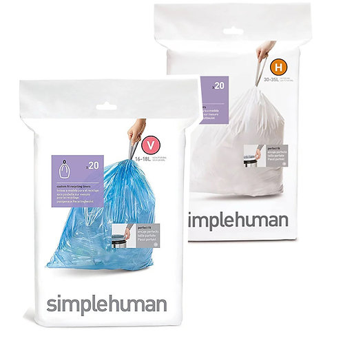 SimpleHuman H and V packs of 20