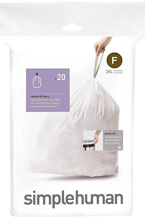 Code F Custom Fit Bin Liners (Pack of 20)