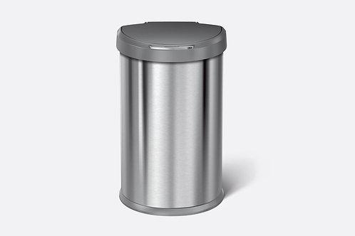 45 litre  semi-round sensor bin stainless steel  with grey plastic lid