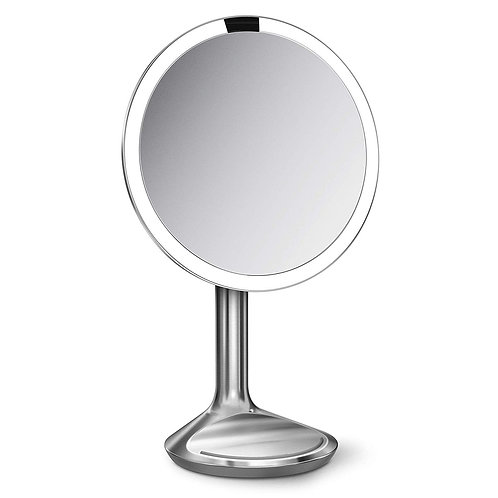 20cm Sensor Mirror SE in Brushed Stainless Steel with 5X Magnification