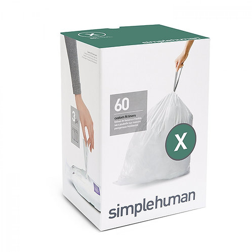 Code X Custom Fit Bin Liners, 3 x pack of 20 (60 liners)
