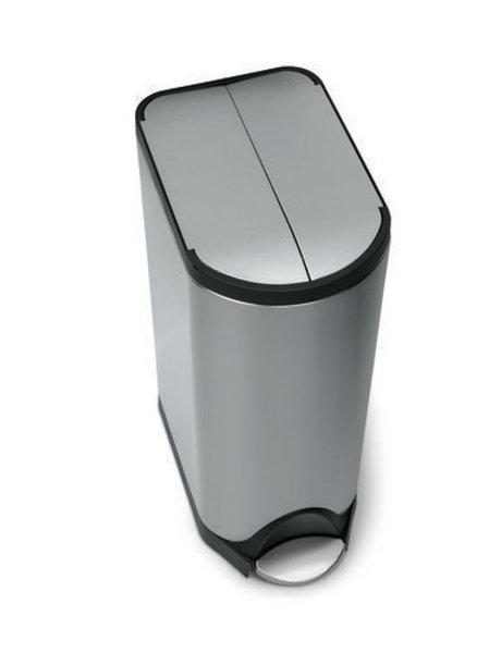 Butterfly pedal bin, 30 litre, FPP brushed steel