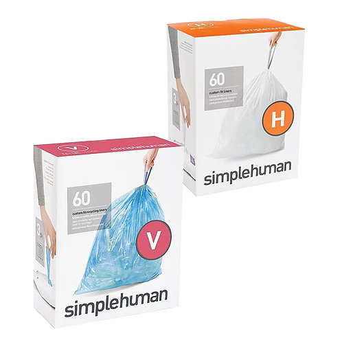 SimpleHuman H and V packs of 60