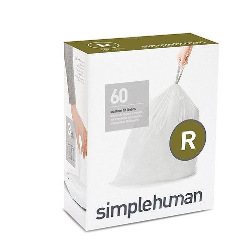 Code R Custom Fit Bin Liners, 3 x pack of 20 (60 liners)