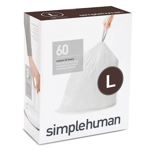 Code L White Custom Fit Bin Liners 18L, 3 x pack of 20 (60 liners)