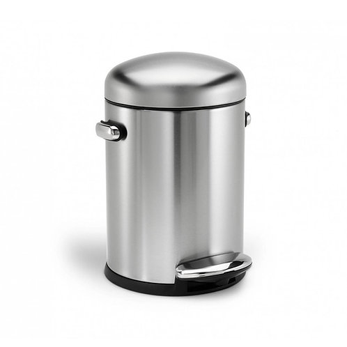 4.5L Single Compartment Round Retro Pedal Bin