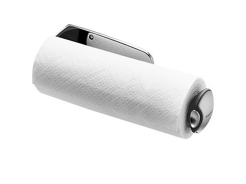 Long Wall Mount Kitchen Roll Holder Stainless Steel