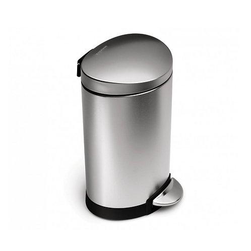 6L single compartment semi-round pedal bin