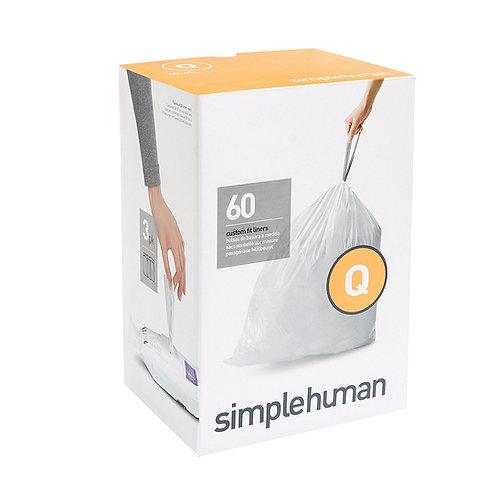 Code Q Custom Fit Bin Liners, 3 x pack of 20 (60 liners)